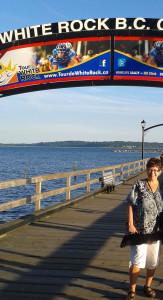 JM on pier, W R