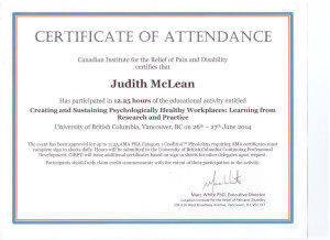 Psych Healthy Workplaces Certific 2014